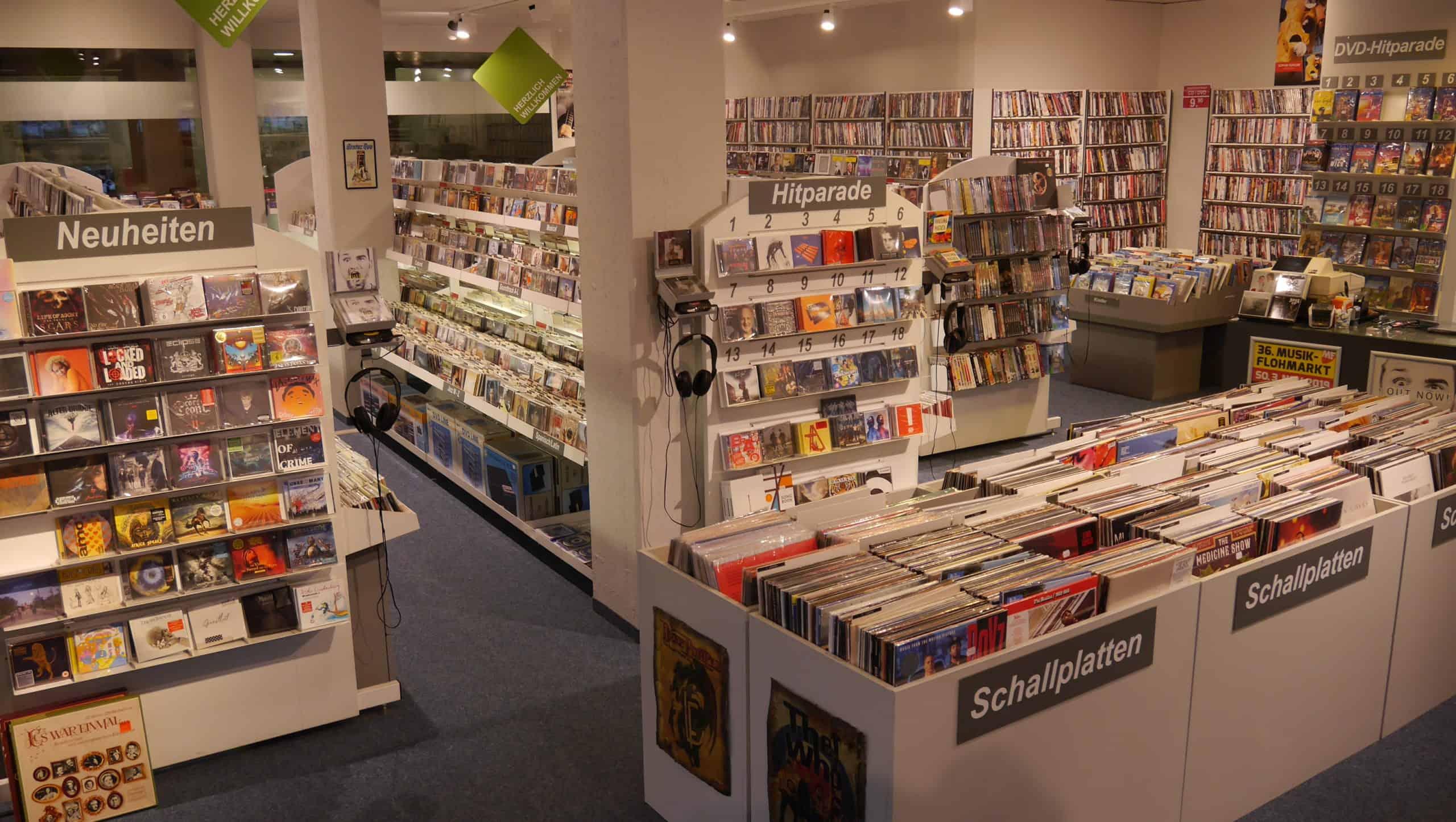 CD/DVD/LP Abteilung