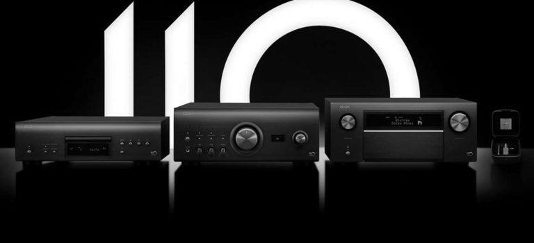 Denon A110 Verstärker, SACD/CD-Player und AV-Verstärker zum 110 jährigen Jubiläum